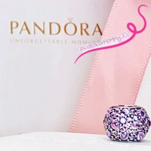 NWT PANDORA Pink Shimmering Droplets Charm RETIRED
